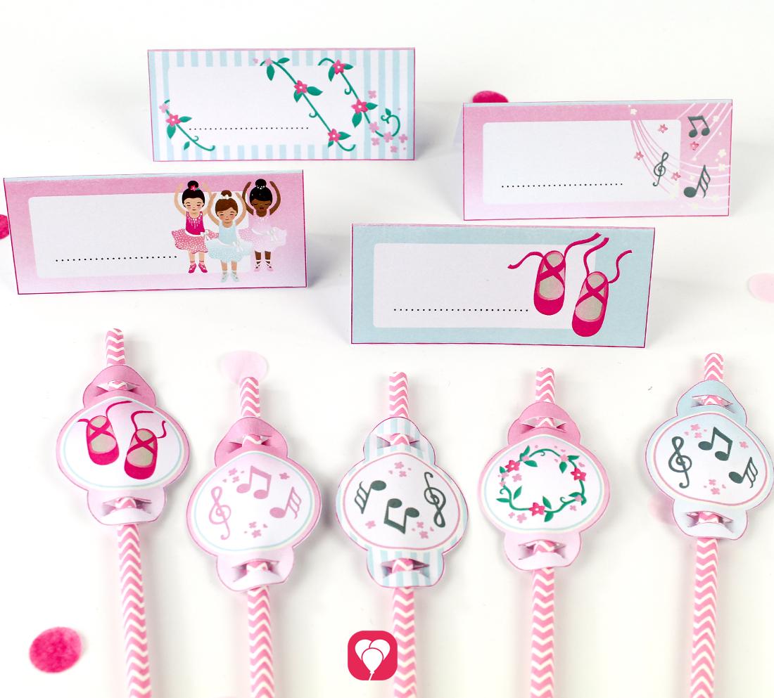 Dekoration für Deinen Ballerina Geburtstagstisch