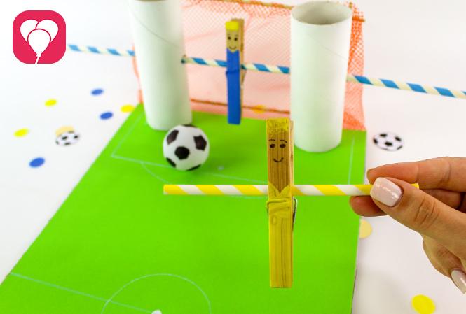 DIY Kicker Spiel - Spieler aus Klammer
