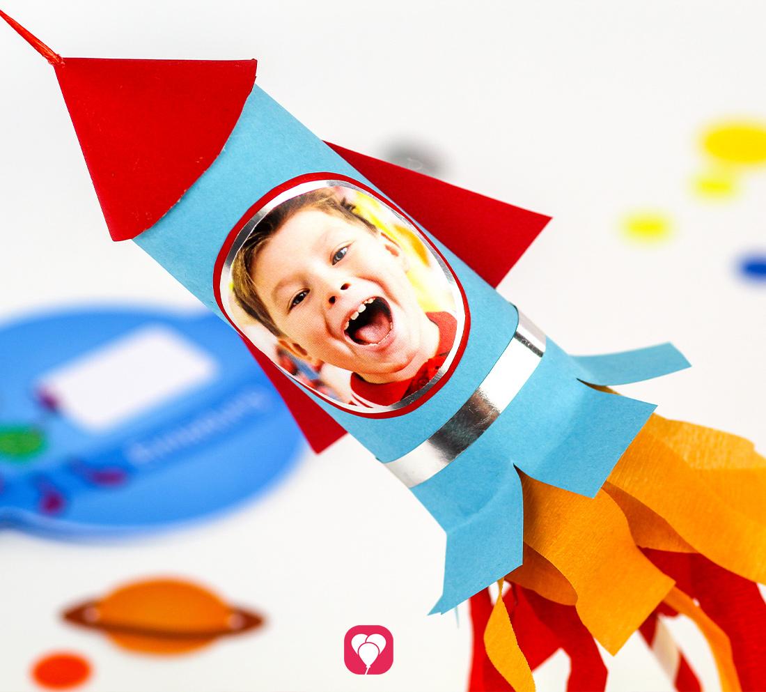 DIY Raketen Geschenkverpackung
