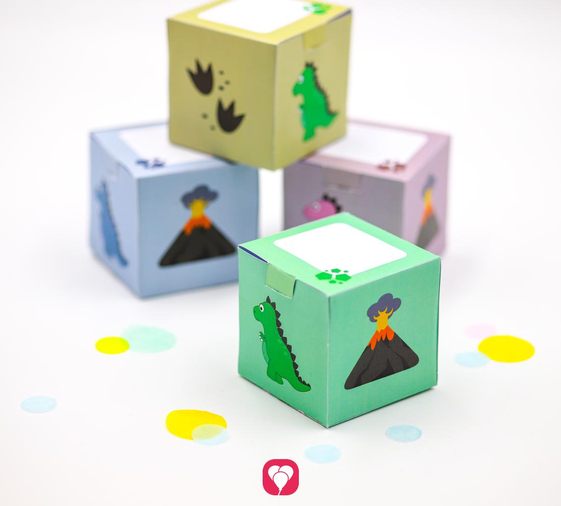 Praktische Dino Geschenkboxen