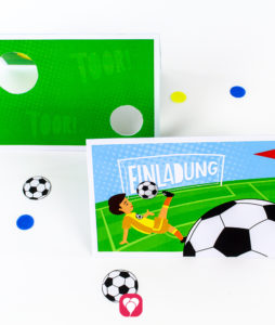 Fußball Einladung Torwand - balloonas