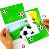 Fußball Einladung mit Torwand - Vorlagen ausgeschnitten
