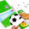 Fußball Einladung mit Torwand - ausschneiden