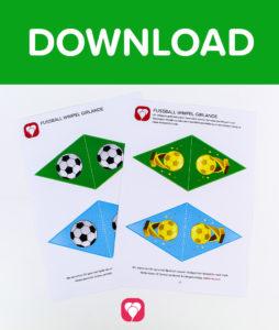 Fußball Girlande - Download Wimpelkette