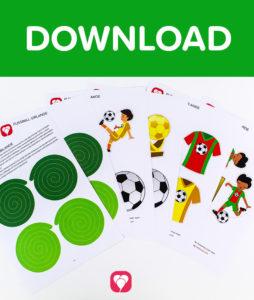 Fußball Girlande - Download