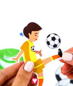Fußball Girlande - Motiv für Spiralgirlande