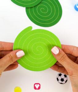 Fußball Girlande - Spirale