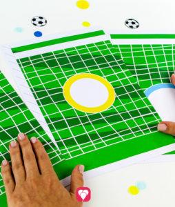 Fußball Torwand Spiel - Torwand dreiteilig