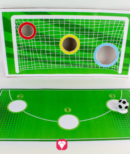 Fußball Torwand Spiel - los gehts