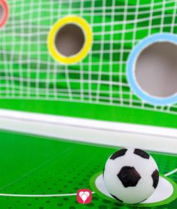 Fußball Torwand Spiel - Tischtennisball als Fußball