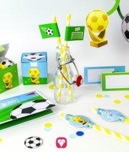Fussball Geburtstagspaket Basic- balloonas