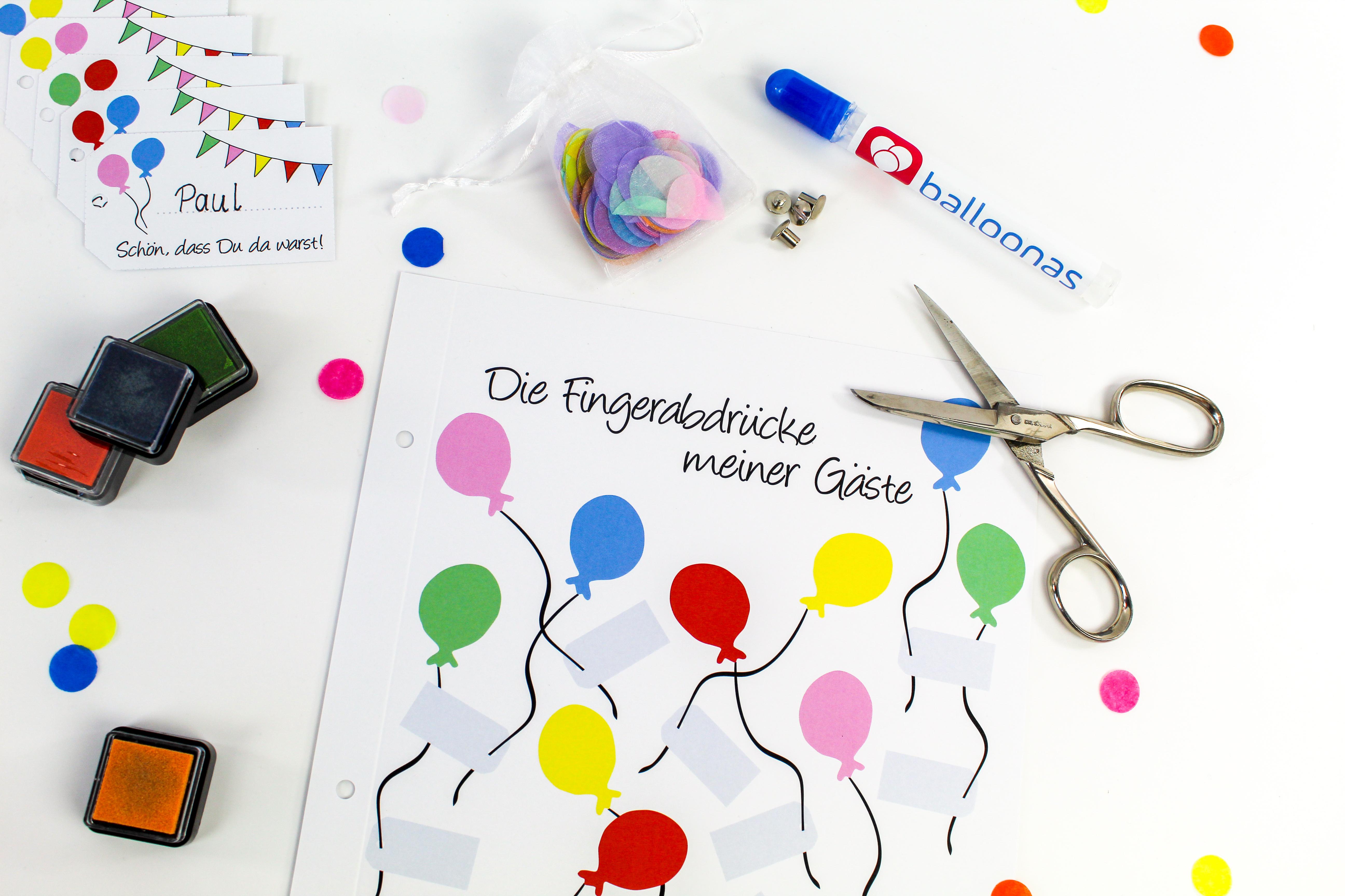 balloonas Geburtstagsbuch - Vorbereitungen