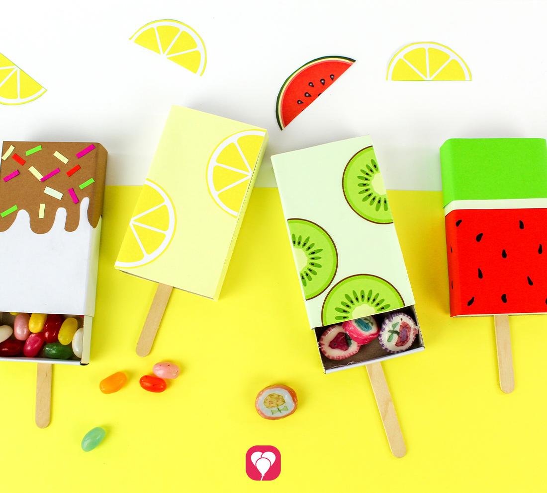 DIY Ice Cream Geschenkschachtel