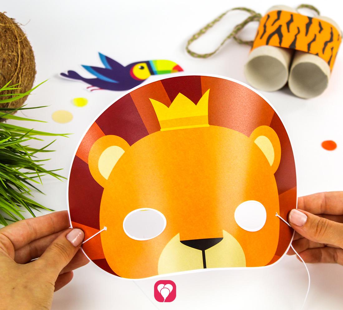 Löwen- und Tiermasken basteln