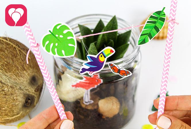 Tropical Safari Glas basteln - balloonas