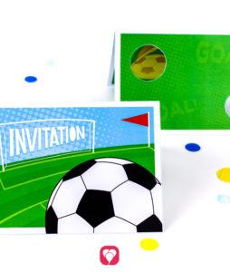 Soccer Goal Wall Invitarion - balloonas