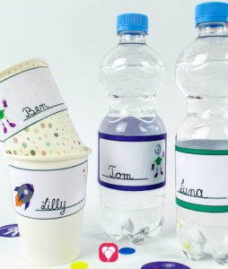 Space Bottle Labels and Cup Labels - balloonas