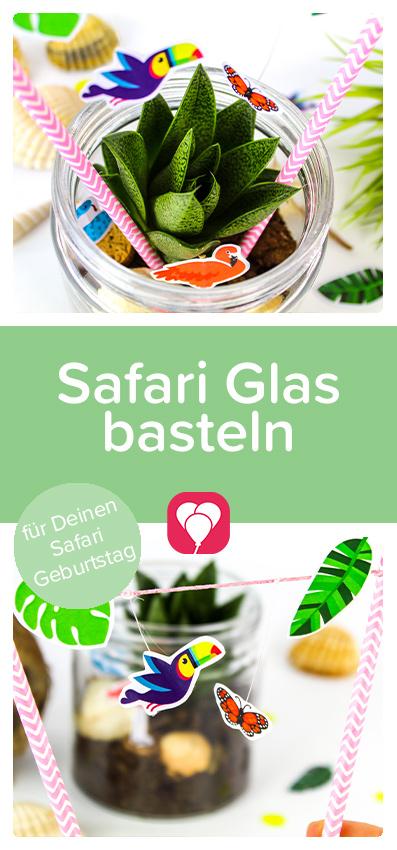 Safari Glas basteln Pinterest - balloonas