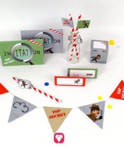Detective Birthday Package - balloonas