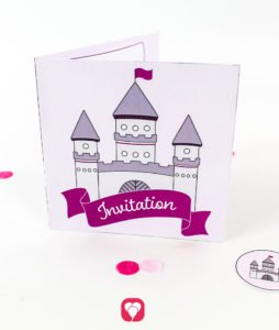 Fairytale Castle Invitation - balloonas