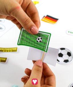 Fußball Deko Picker - Motiv an Zahnstocher kleben