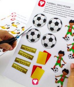 Fußball Deko Picker - Motive ausschneiden