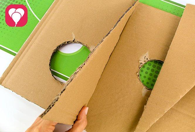 Fussball Torwand Spiel - Karton