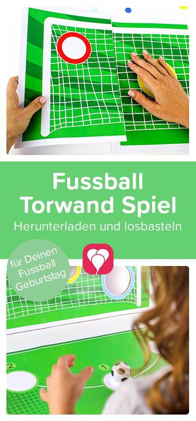 Fussball Torwand Spiel - Pinterest Pin
