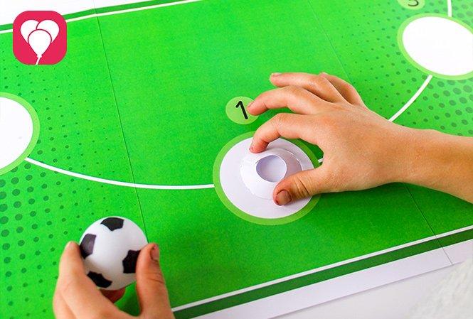 Fussball Torwand Spiel - Spielhilfe