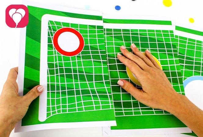 Fussball Torwand Spiel - Vorlage zusammenkleben
