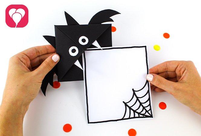 Halloween Einladung basteln - Karte