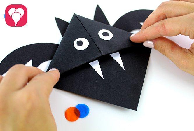 Halloween Einladung - Fledermaus Lesezeichen