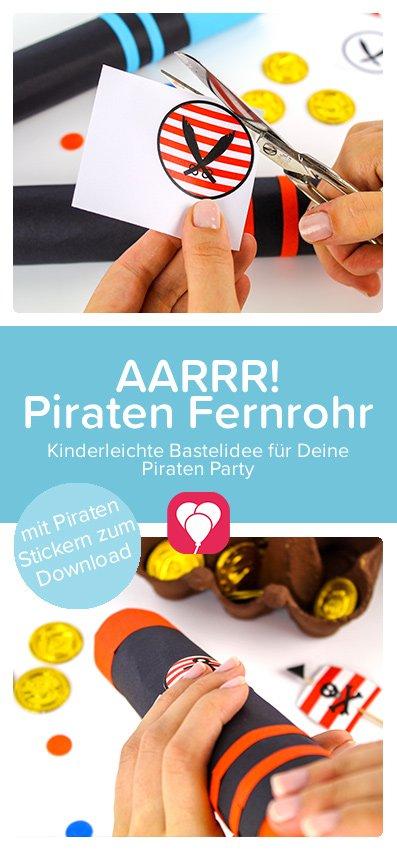 Piraten Fernrohr basteln - Pinterest Pin