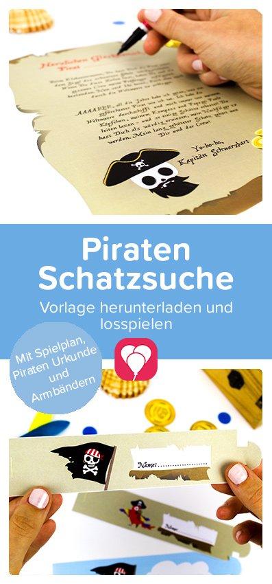 Piraten Schatzsuche Pin - balloonas