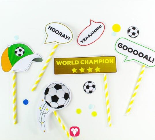 Soccer Photo Booth - ballonas