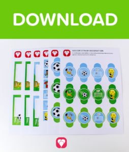 Soccer Place Cards and Straw Decor - Download