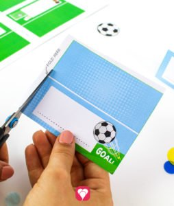 Soccer Place Cards and Straw Decor - cut out place cards