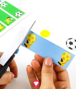 Soccer Place Cards and Straw Decor - cut out straw decor