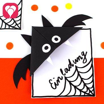 Halloween Einladung basteln - balloonas