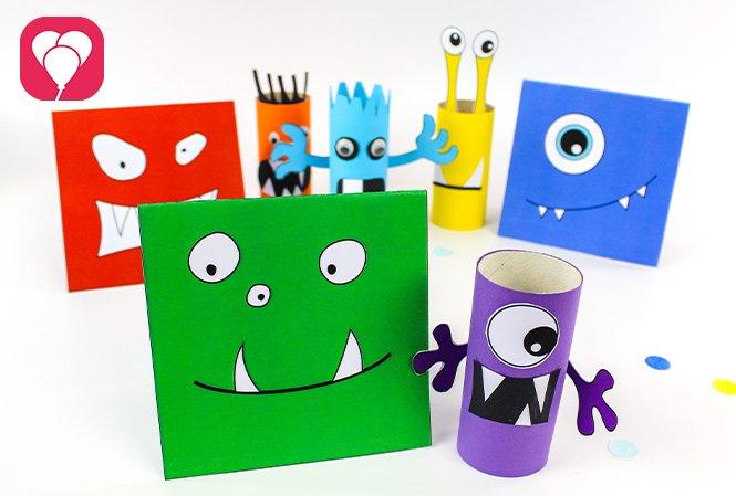 Monster basteln mit Monster Karten