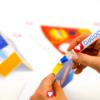 Superhero Candy Bar - put glue on the box
