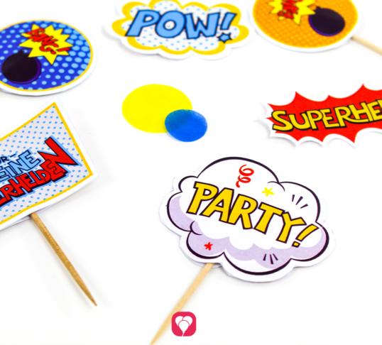 Superhelden Deko Picker - balloonas