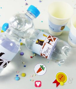 Horse Bottle Labels and Cup Labels - balloonas