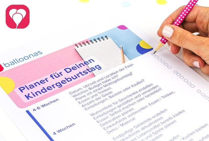 Kindergeburtstag planen Checkliste - balloonas