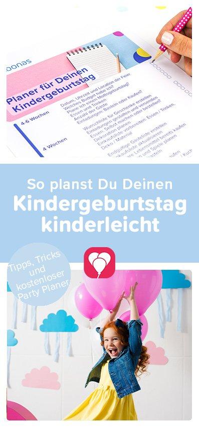 Kindergeburtstag Planen balloonas Pin