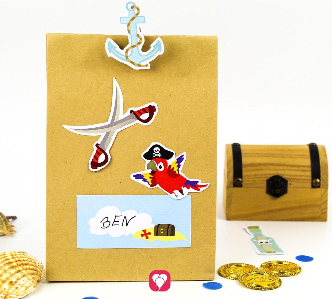 Piraten Geschenkaufkleber