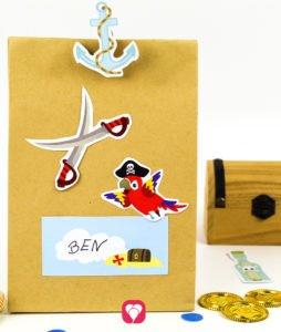 Piraten Geschenksticker - balloonas
