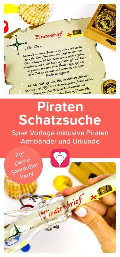 Piraten Schatzsuche - balloonas Pinterest Pin