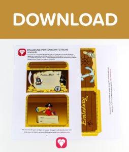 Piratenschatztruhe Einladung - Download
