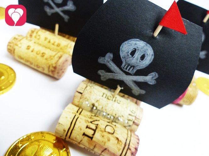 DIY Piratenschiff aus Korken